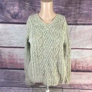 American Eagle Sweater Womens Small Beige Gray